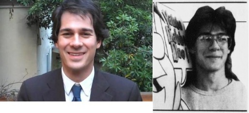 Time Magazine humor columnist Joel Stein, present day and with his mullet in 1990. (Photo on left:
