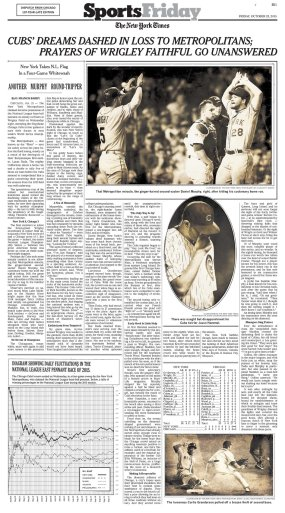 Dan Barry's 1908-style baseball column in the NYT print edition. Click for a larger view.